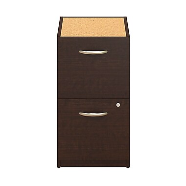 Bush® Business Westfield Elite 16W 2-Drawer Pedestal, Mocha Cherry, Pre Assembled