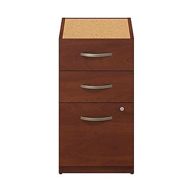 Bush® Business Westfield Elite 16W 3-Drawer Pedestal, Hansen Cherry, Pre Assembled