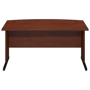 Bush® Business Westfield Elite 60W x 36D C-Leg Bow Front Desk, Hansen Cherry