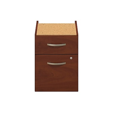 Bush® Business Westfield Elite 2-Drawer 3/4 Pedestal, Hansen Cherry