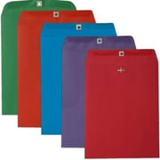 JAM Paper® 10 x 13 Open End Catalog Envelopes with Clasp Closure, Assorted Bright Colors, 50/pack (87427)