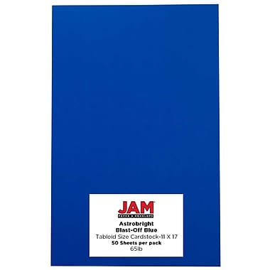 JAM Paper Tabloid Card Stock, 50/Pack