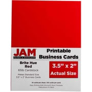"JAM Paper (3.5"" x 2"") Printable Business Cards, 100/pack"