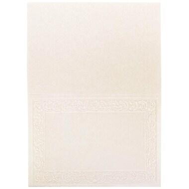 JAM Paper – Cartes repliables vierges, ivoire, 100/paquet