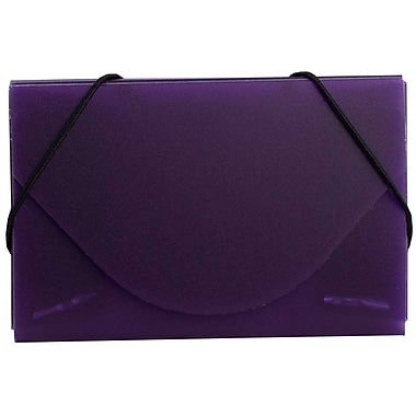 JAM Paper® Plastic Business Card Case, Frosted Purple, 5/Pack (36328367g)