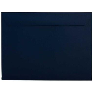 JAM Paper – Enveloppes format livret, 9,5 x 12,62 po, bleu marine, 100/paquet