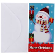 JAM Paper Holiday Money Card set, 8 Cards and Envelopes per Pack
