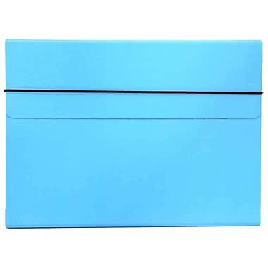 JAM PaperMD – Pochette de classement à portfolio intégré mince avec fermeture à élastique, 9 1/4 x 12 1/2 po, noir, 2/paquet