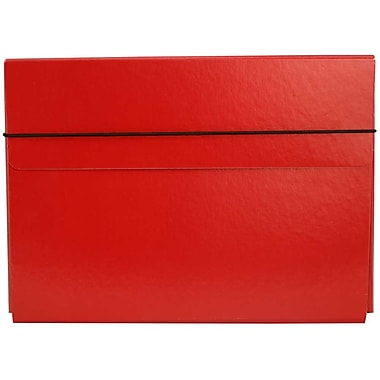JAM Paper® Thin Portfolio Carrying Case with Elastic Closure, 9.25 x 12.5, Red, 2/Pack (154528542g)
