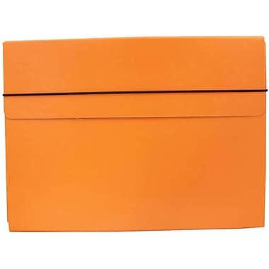 JAM Paper® Thin Portfolio Carrying Case with Elastic Closure, 9.25 x 12.5, Orange, 2/Pack (154528544g)
