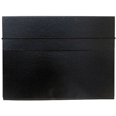 JAM PaperMD – Étui de transport à portfolio 154528547G mince et solide à fermeture à élastique, kraft naturel, paquet de 2