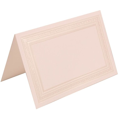JAM Paper® Placecards, 2.75 x 4.25, White Pearl Border Place Cards, 100/Pack (303125297)