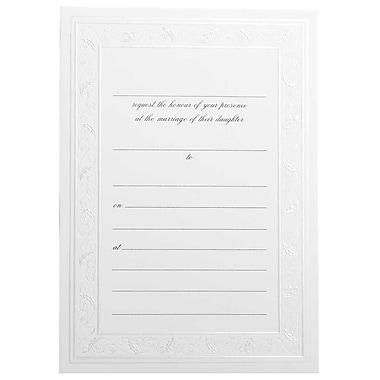 JAM Paper® Fill-in Wedding Invitation Set, Shiny Ivory Border, 25/Pack (354628404)