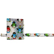 JAM Paper® Christmas Holiday Gift Wrapping Paper, 25 sq. ft., Assorted Christmas Design, 3, pack (1655243512)