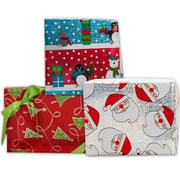 JAM Paper Shiny Christmas Design Wrapping Paper Roll, 25 sq. ft., 3/Pack