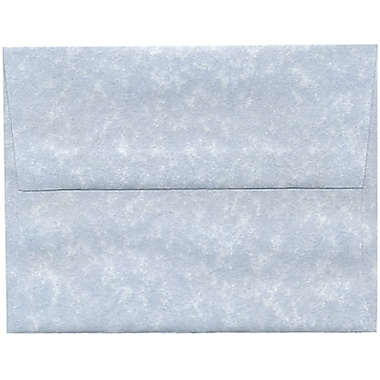JAM Paper® A2 Invitation Envelopes, 4.38 x 5.75, Parchment Blue Recycled, 250/Pack (10197H)