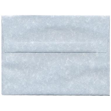 JAM PaperMD – Enveloppes en papier recyclé format A6, effet parchemin, bleues, paq./250