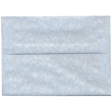 JAM Paper® A7 Invitation Envelopes, 5.25 x 7.25, Parchment Blue Recycled, 250/Pack (10379H)