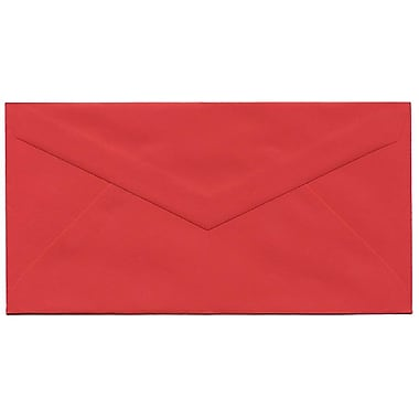 JAM Paper® Monarch Envelopes, 3.88 x 7.5, Brite Hue Red Recycled, 500/Pack (151014H)