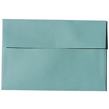 JAM Paper® A8 Invitation Envelopes, 5.5 x 8.125, Aqua Blue Recycled, 250/Pack (1523988H)