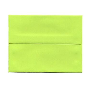 JAM Paper – Enveloppes BriteHue A1 en papier recyclé vert lime intense, 250/paquet