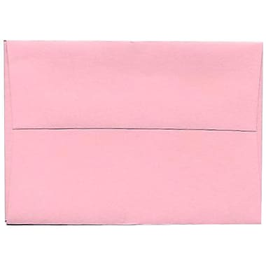 JAM Paper® 4bar A1 Envelopes, 3.63 x 5 1/8, Baby Pink, 250/Pack (155621H)
