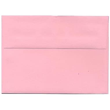 JAM Paper® A7 Invitation Envelopes, 5.25 x 7.25, Brite Hue Baby Pink, 250/Pack (155627H)