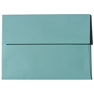 JAM Paper – Enveloppes Brite Hue A6 en papier recyclé, aqua, 250/paquet