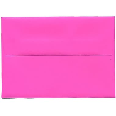 JAM Paper® 4bar A1 Envelopes, 3.63 x 5 1/8, Brite Hue Ultra Fuchsia Pink, 250/Pack (15790H)