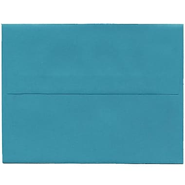 JAM Paper® 4bar A1 Envelopes, 3.63 x 5 1/8, Brite Hue Sea Blue Recycled, 250/Pack (15794H)