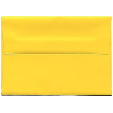JAM Paper® 4bar A1 Envelopes, 3.63 x 5 1/8, Brite Hue Yellow Recycled, 250/Pack (15801H)