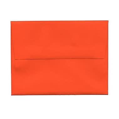 JAM Paper® 4bar A1 Envelopes, 3.63 x 5 1/8, Brite Hue Orange Recycled, 250/Pack (15808H)