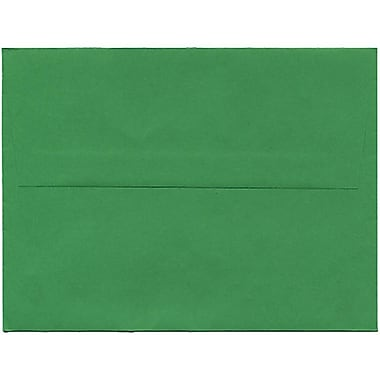 JAM Paper® A2 Invitation Envelopes, 4.38 x 5.75, Brite Hue Green Recycled, 250/Pack (15843H)