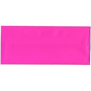 JAM Paper – Enveloppes recyclées Brite Hue n° 10 (4,13 x 9,5 po), rose fuchsia, 500/bte