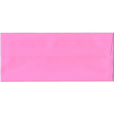 JAM Paper® #10 Business Envelopes, 4 1/8 x 9 1/2, Brite Hue Ultra Pink, 25/pack (15851)