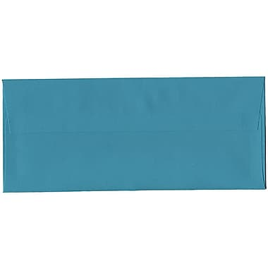 JAM Paper® #10 Business Envelopes, 4 1/8 x 9.5, Brite Hue Sea Blue Recycled, 500/Pack (15858H)