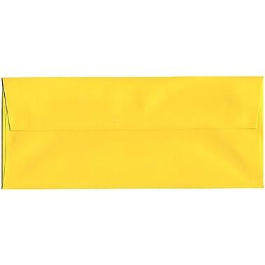 JAM Paper – Enveloppes recyclées Brite Hue n° 10 (4,13 x 9,5 po), jaune, 500/bte