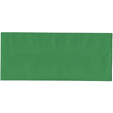 JAM Paper® #10 Business Envelopes, 4 1/8 x 9.5, Brite Hue Green Recycled, 500/Pack (15862H)