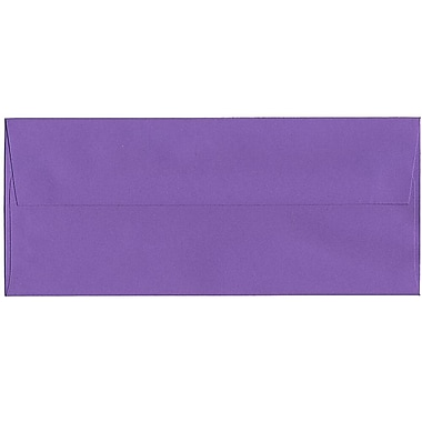 JAM Paper® #10 Business Envelopes, 4 1/8 x 9.5, Brite Hue Violet Purple Recycled, 500/Pack (15864H)