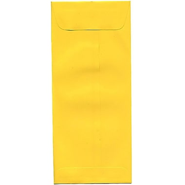 JAM Paper® #10 Policy Envelopes, 4 1/8 x 9.5, Brite Hue Yellow Recycled, 500/Pack (15877H)