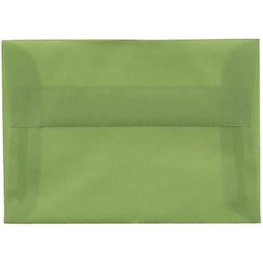 JAM Paper – Enveloppes translucides A1, vert feuille, 250/paquet
