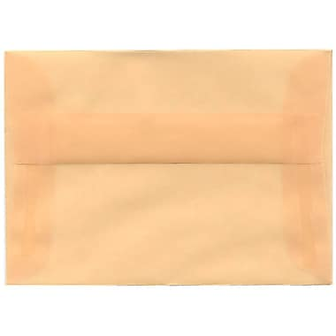JAM Paper® 4bar A1 Envelopes, 3.63 x 5 1/8, Translucent Vellum Spring Ochre Ivory, 250/Pack (1591612H)