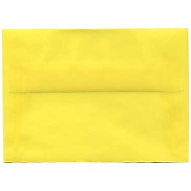 JAM Paper® 4bar A1 Envelopes, 3.63 x 5 1/8, Yellow Translucent Vellum, 250/Pack (1591616H)