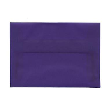 JAM Paper – Enveloppes translucides A1, bleu primaire, 250/paquet