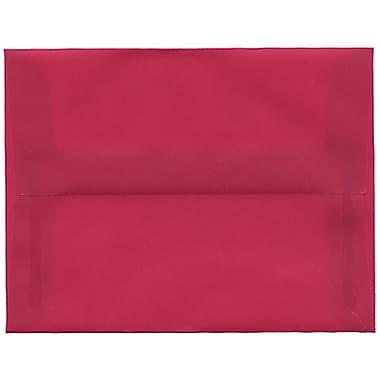 JAM Paper – Enveloppes A2 en papier translucide, magenta, 250/paquet