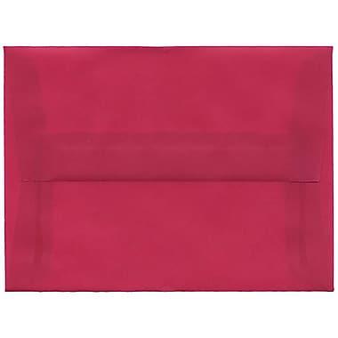 JAM Paper® A6 Invitation Envelopes, 4.75 x 6.5, Magenta Pink Translucent Vellum, 250/Pack (1591681H)