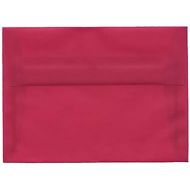 JAM Paper® A7 Invitation Envelopes, 5.25 x 7.25, Magenta Pink Translucent Vellum, 50/Pack (1591720I)