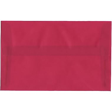 JAM Paper® A10 Invitation Envelopes, 6 x 9.5, Translucent Vellum Magenta Pink, 250/Pack (1591790H)