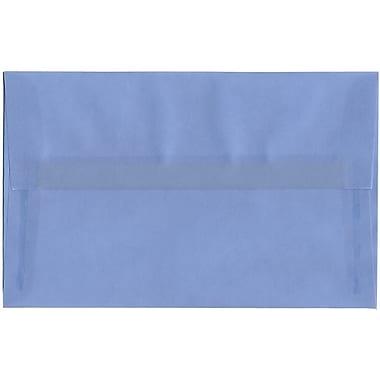 JAM Paper® A10 Invitation Envelopes, 6 x 9.5, Translucent Vellum Surf Blue, 250/Pack (1591792H)