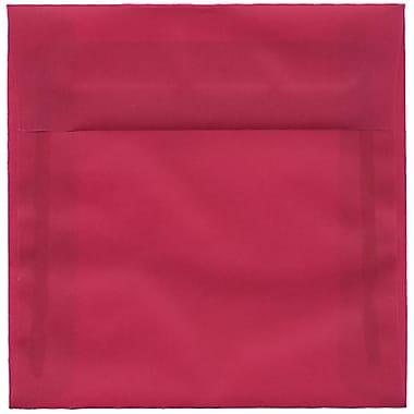 JAM Paper – Enveloppes carrées translucides, 6 x 6 po, magenta, 250/paquet